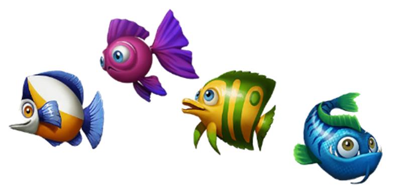 golden fish tank symboler