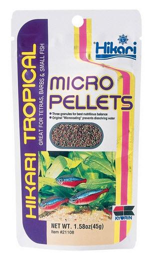 micropellets hikari- en typ av torrfoder
